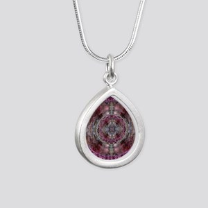 LAW OF ATTRACTION MANDAL Silver Teardrop Necklace