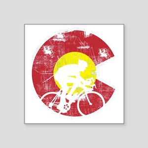 "Bike Colorado Square Sticker 3"" x 3"""