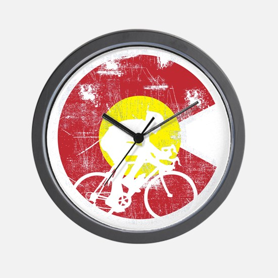Bike Colorado Wall Clock