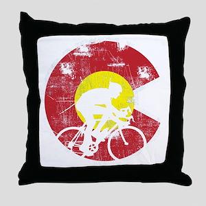 Bike Colorado Throw Pillow
