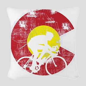 Bike Colorado Woven Throw Pillow