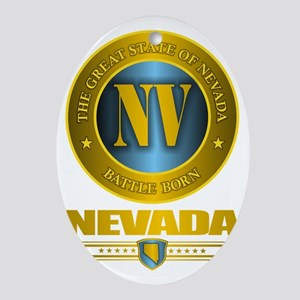Nevada Gold Oval Ornament