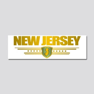 New Jersey Gold Label (P) Car Magnet 10 x 3