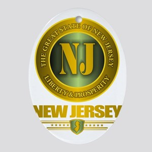 New Jersey Gold Label Oval Ornament