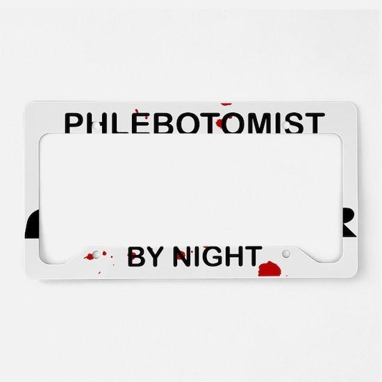 Phlebotomist Cage Fighter License Plate Holder