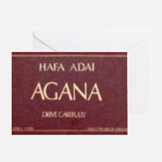 Old Agana Sign Greeting Card