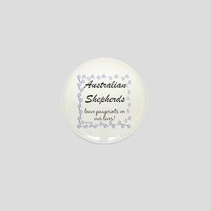 Aussie Pawprints Mini Button