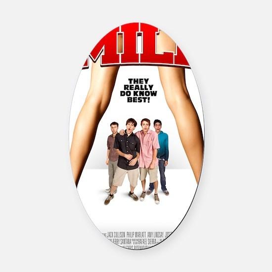 MILF Poster Oval Car Magnet