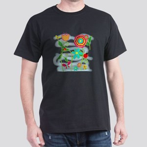 Flower Garden Dark T-Shirt