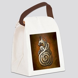 Norse Dragon Canvas Lunch Bag