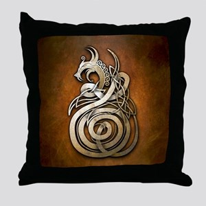 Norse Dragon Throw Pillow