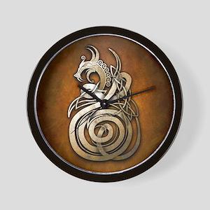 Norse Dragon Wall Clock