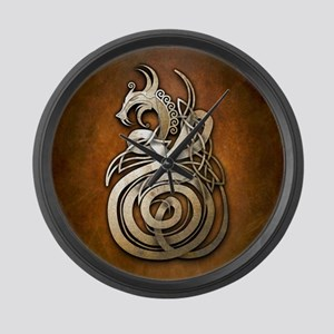 Norse Dragon Large Wall Clock