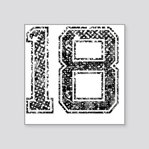 "18, Vintage Square Sticker 3"" x 3"""
