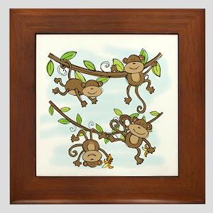 Monkey Shine Framed Tile