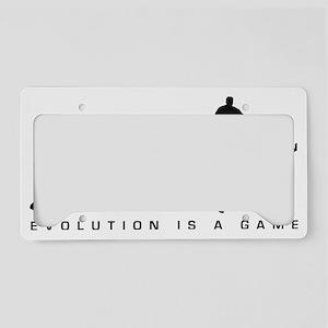 evolution table tennis player License Plate Holder