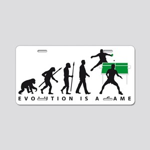 evolution table tennis play Aluminum License Plate