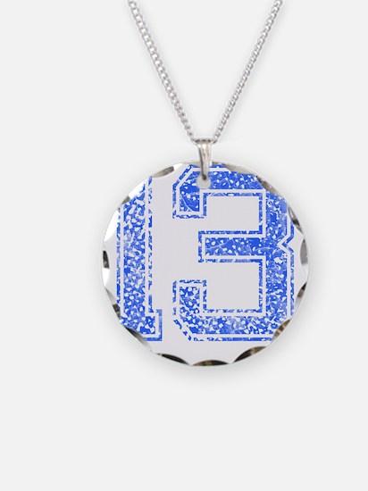 13, Blue, Vintage Necklace