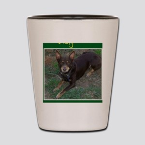 Dusty Australian Kelpie Shot Glass