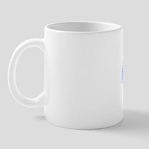 42, Blue, Vintage Mug