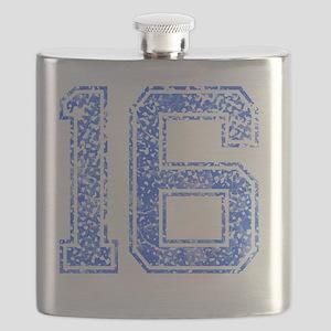 16, Blue, Vintage Flask
