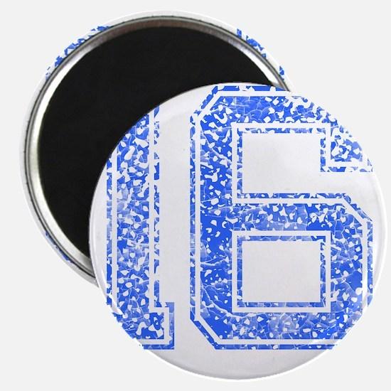 16, Blue, Vintage Magnet