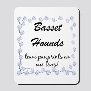 Basset Hound Pawprints Mousepad