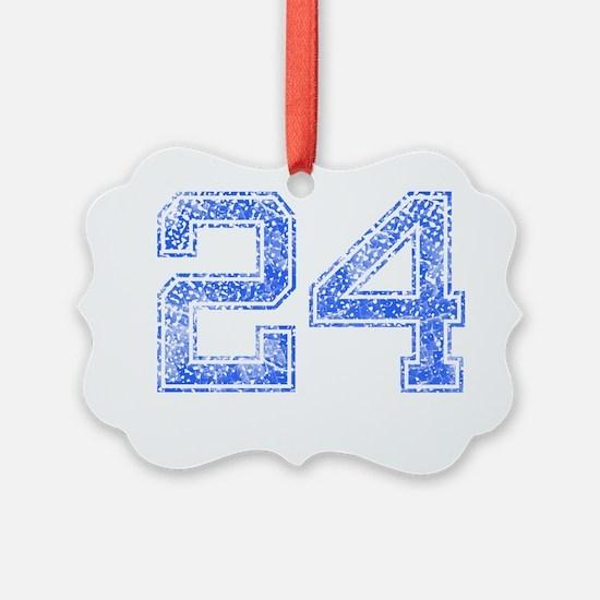 24, Blue, Vintage Ornament