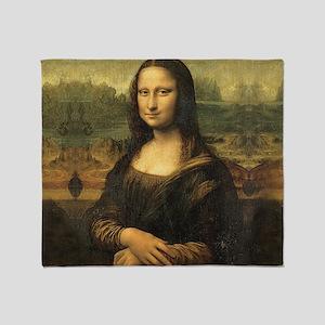 Mona Lisa Throw Blanket