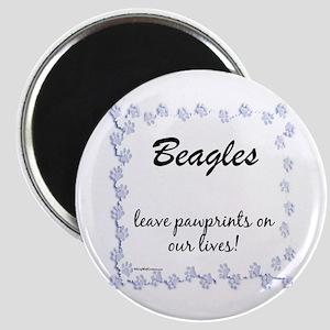 Beagle Pawprints Magnet