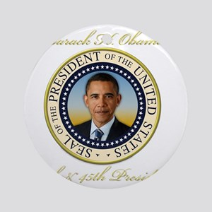 Keepsake President Obama Re-Electio Round Ornament