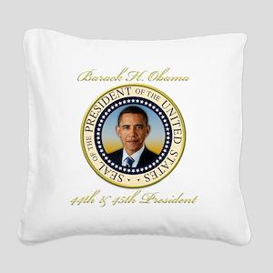 Keepsake President Obama Re-E Square Canvas Pillow