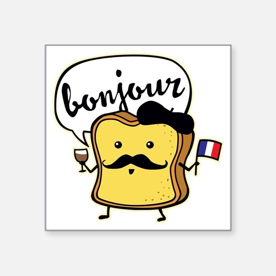"French Toast Square Sticker 3"" x 3"""