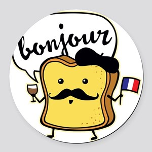 French Toast Round Car Magnet