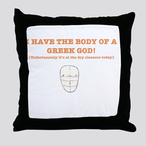 Greek God Throw Pillow