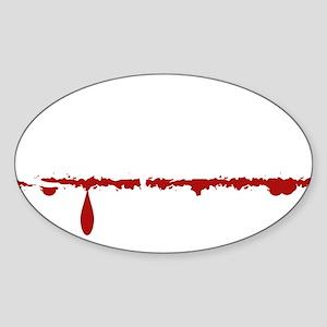 Firefighter Zombie Sticker (Oval)