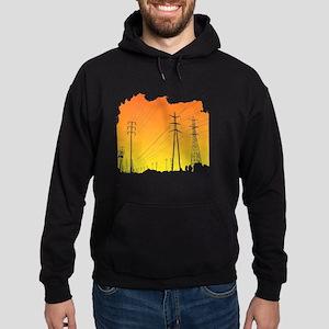 All Over Powerlines design Hoodie (dark)
