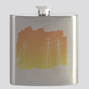 All Over Powerlines design Flask