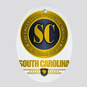 South Carolina Gold Label Oval Ornament