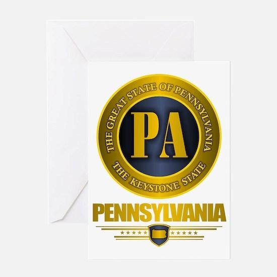 Pennsylvania Gold Label Greeting Card