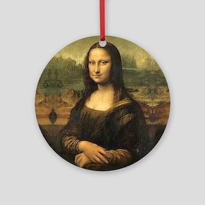 Mona Lisa Round Ornament