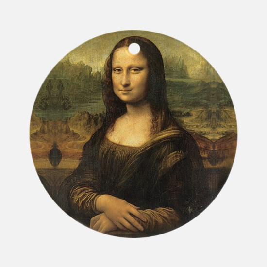 Mona Lisa Round Ornament