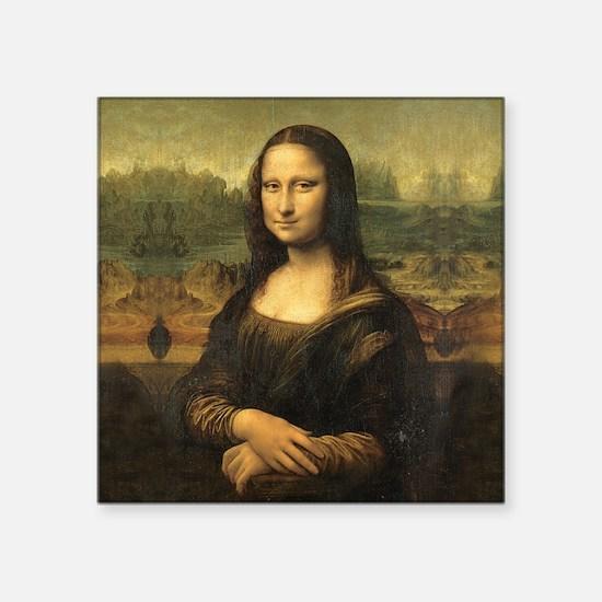 """Mona Lisa Square Sticker 3"""" x 3"""""""