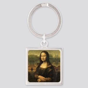 Mona Lisa Square Keychain