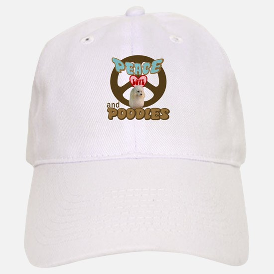 PEACE LOVE and POODLES Baseball Baseball Cap