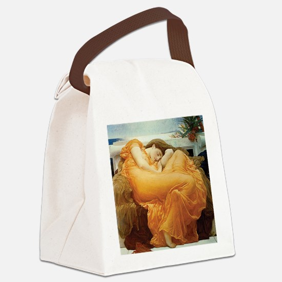 Flaming June Canvas Lunch Bag
