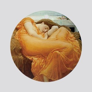 Flaming June Round Ornament