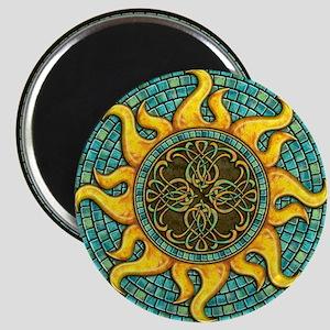 Mosaic Sun Magnet