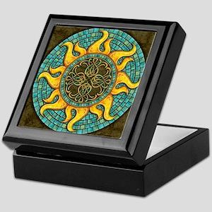 Mosaic Sun Keepsake Box