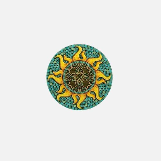 Mosaic Sun Mini Button